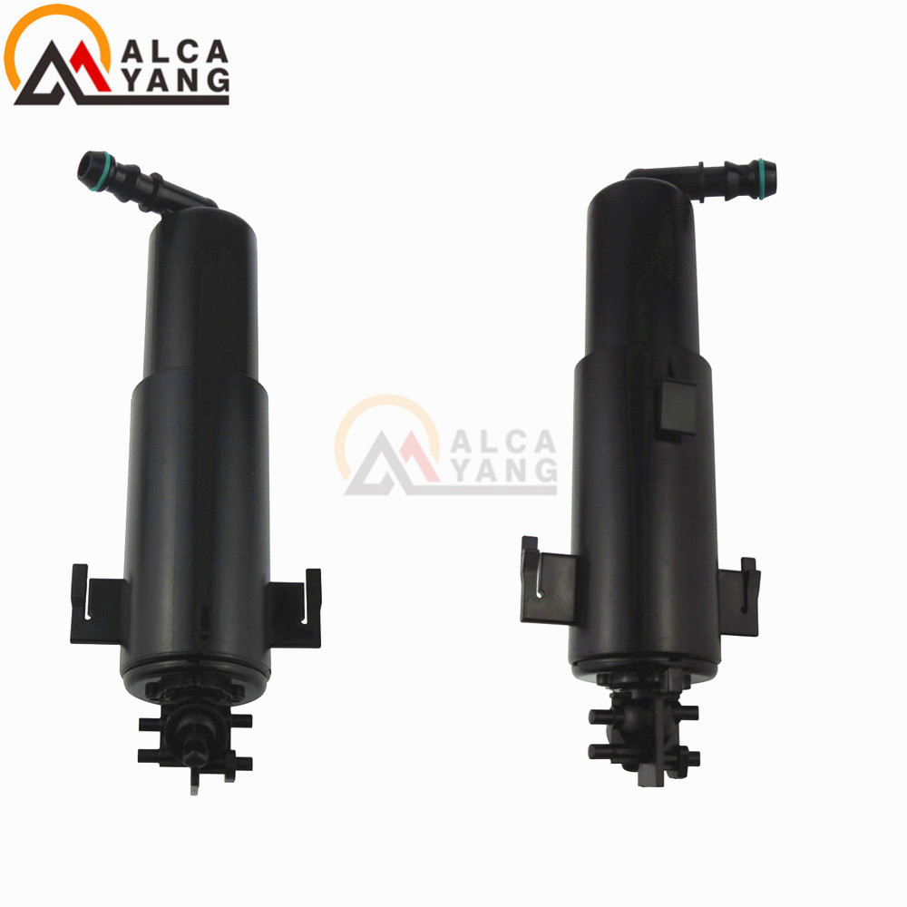 Front Headlight Washer Lift Cylinder Spray Nozzle Jet 1 Pair Left And Right Fit For BMW E70 X5 2007 2008 2009 2010 2012 2013 61677173851 61677173852