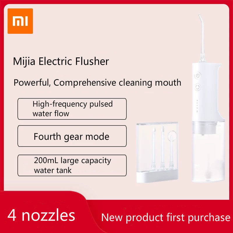 Xiaomi Mijia Oral Irrigator Portable Water Dental Flosser Water Jet Cleaning Tooth Mouthpiece Denture Cleaner Teeth Brush