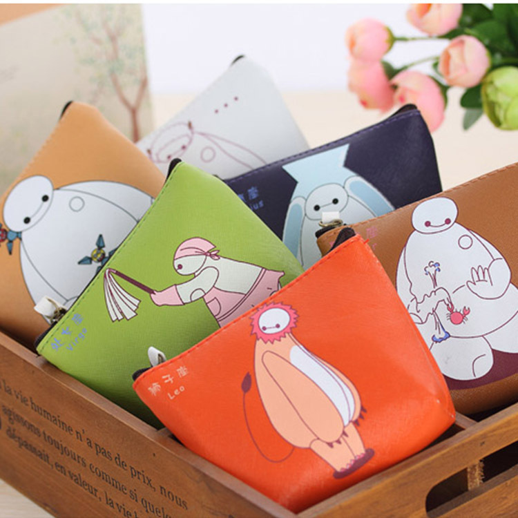 New Style White Warm Men's Purse Chinese Zodiac PU Key Bag Coin Bag Waterproof Storgage Bag