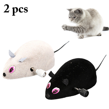 RC Toy Wireless Winding Mechanism Mouse Cat Toy For Cat Dog Pet Trick Playing Toy Plush Rat Mechanical Motion Rats Dropshipping