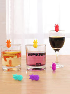 Tag-Signs Labels Cup Pineapple-Marker Drinking-Glass Red-Wine Identification Silicone