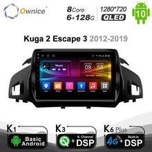 6G+128G Ownice Android 10.0 2 din 8Core Car DSP 4G LTE Radio Player GPS Navi DVD for Ford Kuga 2 Escape 3 2012-2019 SPDIF Audio