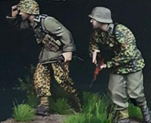1/35 Resin Figure German Soldiers 2pcs/set Model Kits