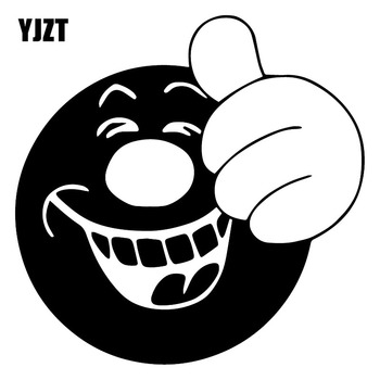 YJZT 15.3X15.3CM Like To Laugh Funny Window Decal Trunk Bumper Decoration Car Sticker C25-1170 image