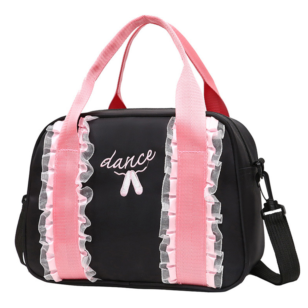 Girl Travel Ballet Accessories Large Capacity Portable Swimming Backpack Picnic Shoulder Strap Duffle Bag Embroidered Tote Dance