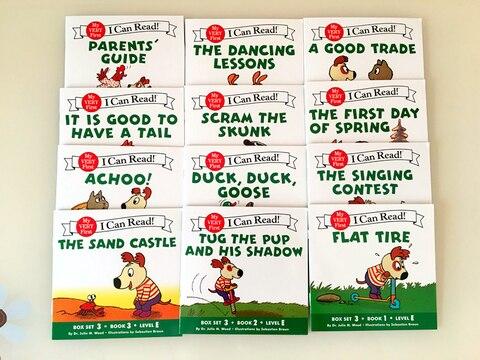 12 livros conjunto eu posso ler fonics em ingles livros de lingua para criancas criancas