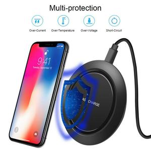 Image 2 - 10W Fast Wireless Charger For Samsung Galaxy S9/S9+ S8 S7 Note 9 S7 Edge USB Qi Charging Pad 10W Fast Wireless Charger For Samsu