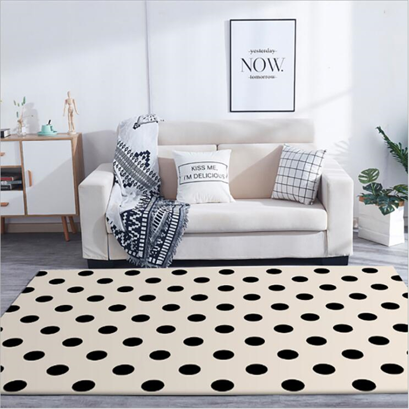 AOVOLL Area Rug For Living Room Carpet Bedroom Japanese And Korean Dot Carpet Rugs For Children Rooms Modern Kids Decor Boy