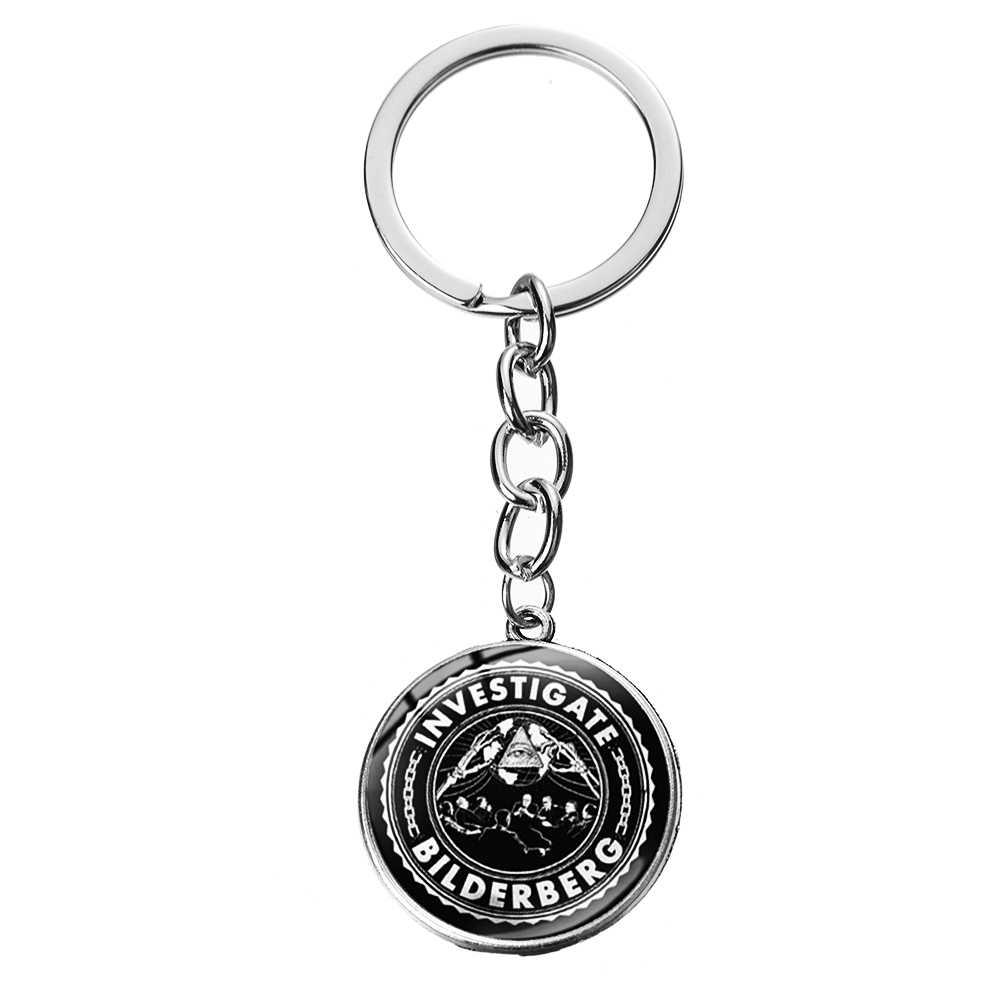 SIAN Maçônica Maçonaria Símbolo Illuminati Pirâmide Olho Liga Keychain Pingentes Cabochão De Vidro Pedreiro Anel De Chave Presente para Mulheres Dos Homens