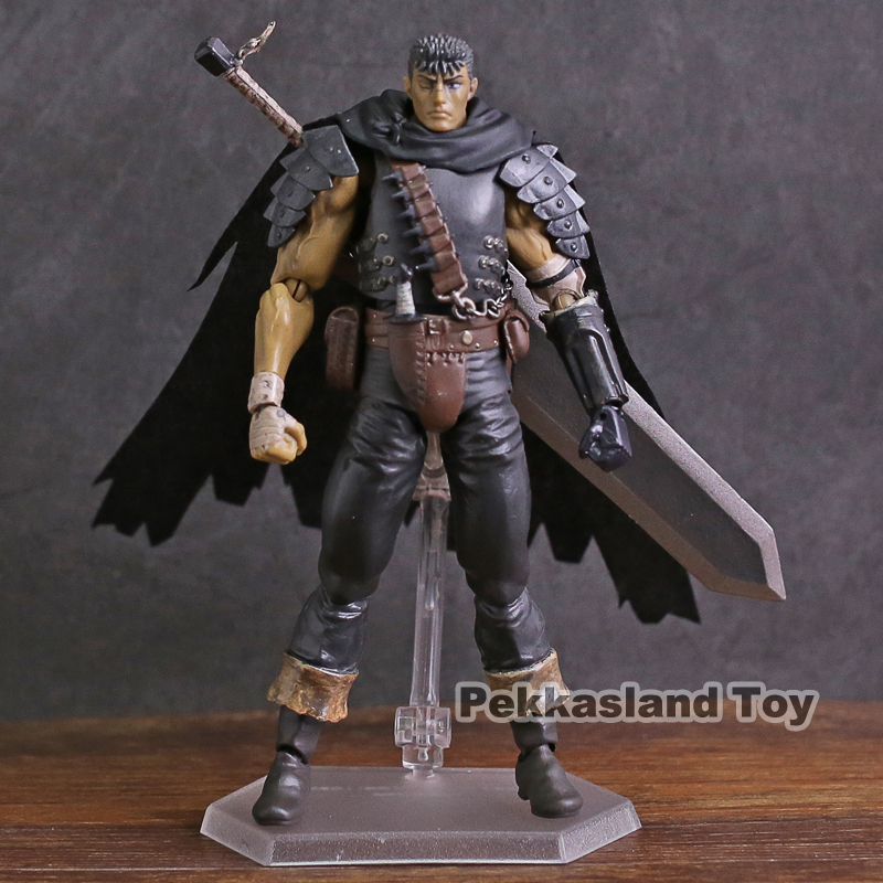 Black Swordsman Ver Figma 359 Berserk Guts Repaint Edition Figure New Loose