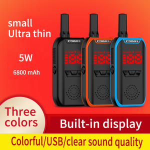 2pcs V7 mini portable walkie t