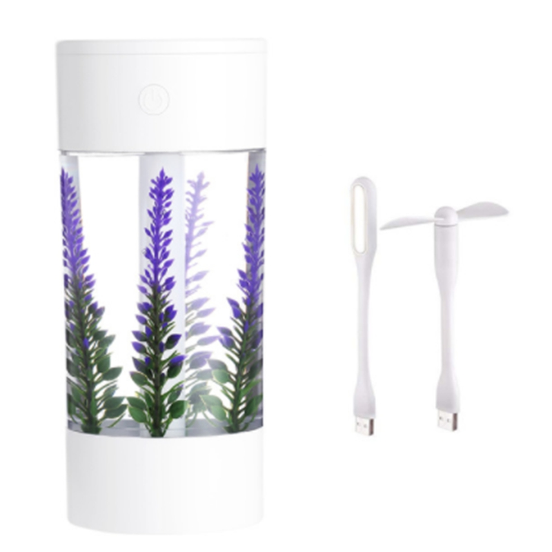 360Ml Air Humidifier Lavender Landscape Usb Mini Car Humidifier Portable Aromatic Oil Diffuser 7 Color Change Lamp USB Humidifie