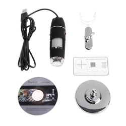 2019 nowy 1600X2 MP mikroskop zoomowy 8 LED USB cyfrowy ręczne szkło powiększające endoskop kamera przyrządy i aparatura w Mikroskopy od Narzędzia na