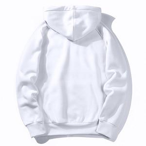 Image 2 - חם צמר נים גברים חולצות 2020 חדש אביב סתיו מוצק לבן צבע היפ הופ Streetwear Hoody איש של בגדים האיחוד האירופי SZIE XXL