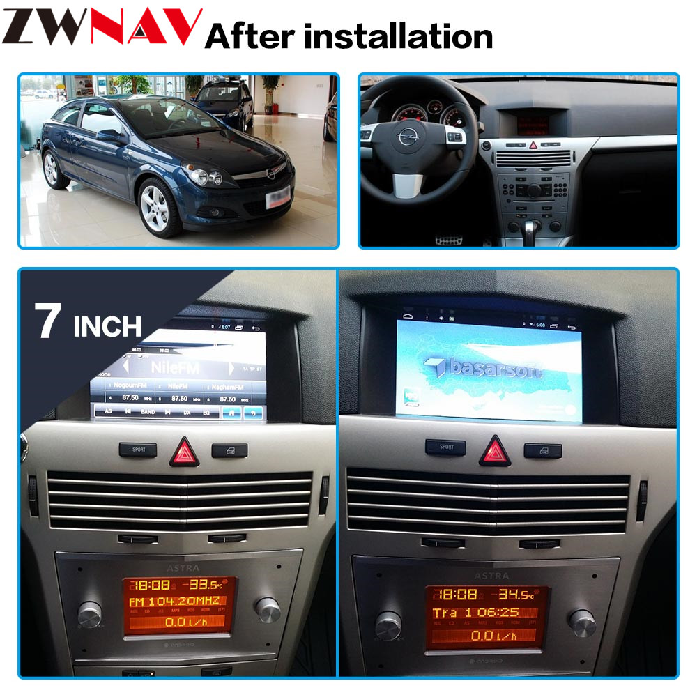 Android 7.1 Car GPS Radio Player For Opel Astra H 2006 2007 2008 2009 2010 2011 2012 Stereo Multimedia Head Unit Tape Recorder