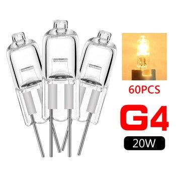 60 piezas de bombilla halógena tipo Bombillas JC, lampara G4, 20W, 12V,...