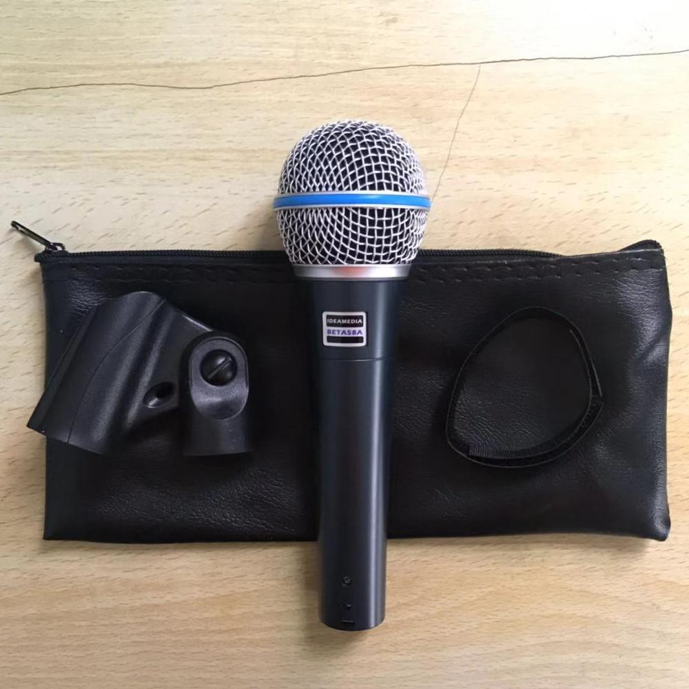 New Shure High-Performance Supercardioid Dynamic Vocal Microphone BETA 58A with Built-In Spherical Wind /& Pop Filter and Stand Clamp