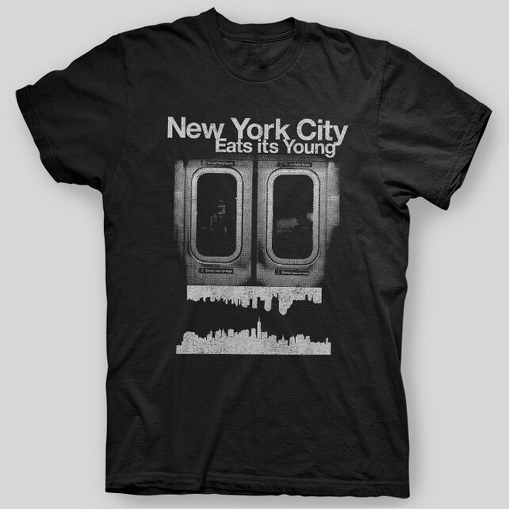 New York City Eats It'S Young Nyc Make It In America T-Shirt Sizes S-5X Custom Made Tee Shirt image