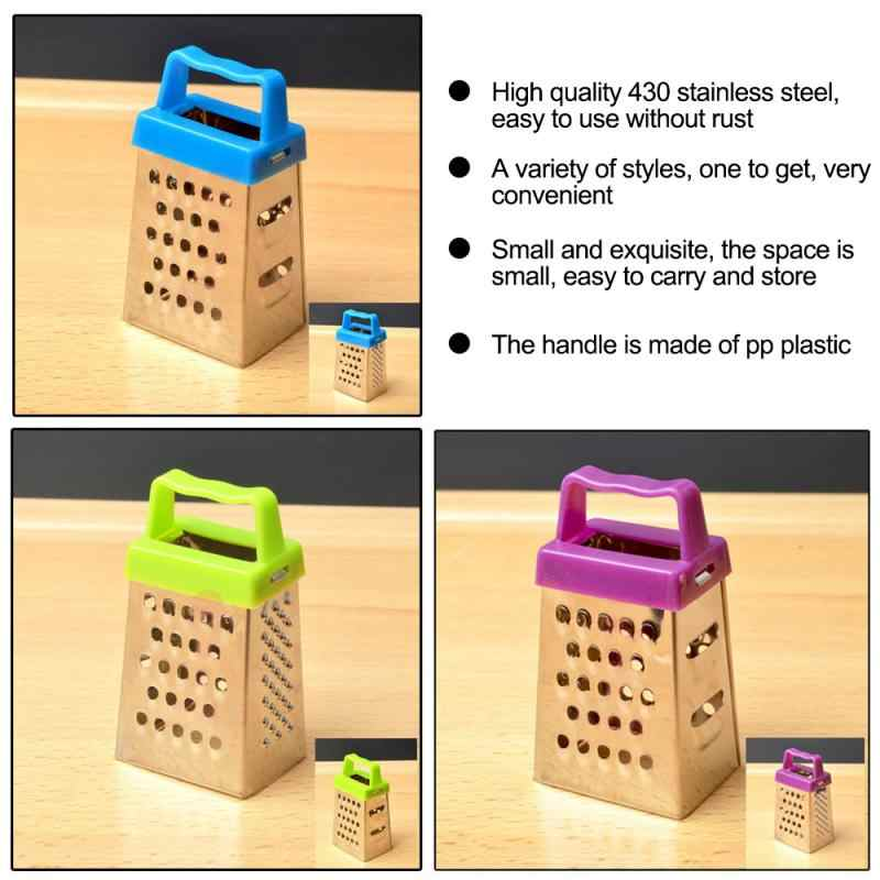 Vegetable Cutter Dapur, Mini Stainless Steel Dapur Alat untuk Chopper Kentang dan Wortel Parutan, empat Sisi (Warna Acak)