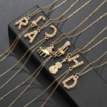 ABDOABDO Gold Letter Necklace Women Metal Initial Pearl Necklace Chain Nameplate Necklace Female Collier Jewelry Choker black metal chain fringe choker necklace