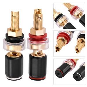 Image 5 - 2 Pcs Black &Red Free Welding Copper Speaker Amplifier Terminal for 4mm Banana Plug Copper Lead free Solder Iron Tips BGA Tools