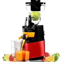 SAVTM 90mm Large-caliber Slow Electric Juicer Machine Slag Juice Separation Automatic Orange Juicer Blender Soymilk Maker JE-35