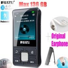 최신 원본 RUIZU X55 스포츠 블루투스 MP3 플레이어 8 기가 바이트 클립 미니 화면 지원 FM, 녹음, 전자 책, 시계, 보수계