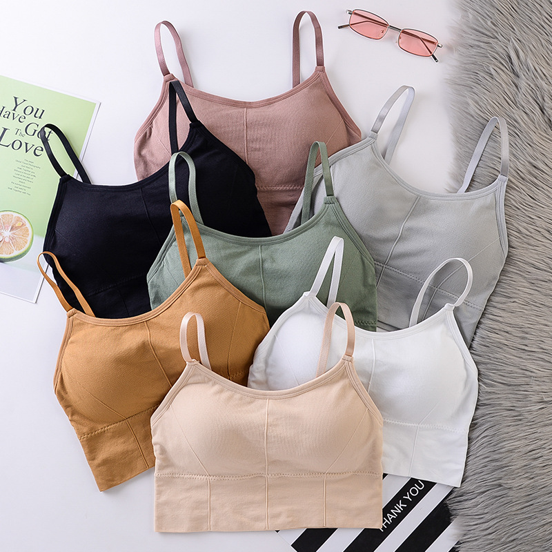 Women Sport Bra Fitness Yoga Tops Solid Padded Breathable Quick Drt Sports Cropped Tops Female Sport Yoga Bra Push Up Straps