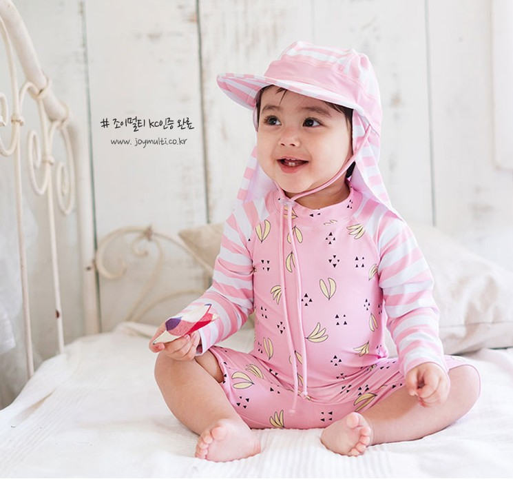 KID'S Swimwear One-piece Long Sleeve Men And Women Children Sun-resistant Hot Springs Warm Students Tour Bathing Suit Cute Small