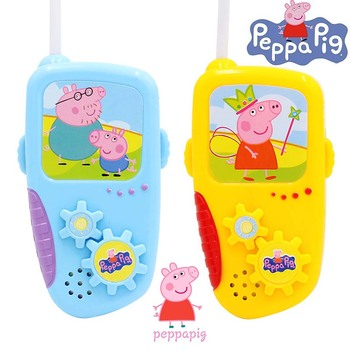 Children's Toy Peppa Pig Walkie Talkie Parent-child Interactive Games Educational Cartoon Toys Kid Birthday Gift Party Props plastic toy baby birthday gift desktop funny game tabletop shoot football fossball family parent child interactive educational