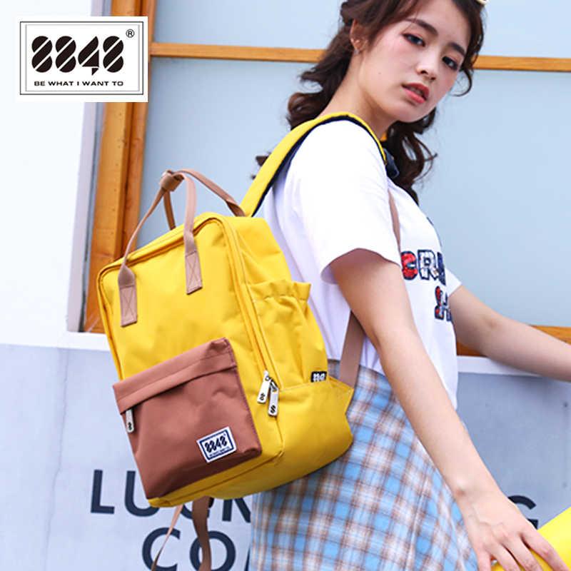 8848 женские рюкзаки Стильный маленький рюкзак для девочек-подростков женская школьная сумка холщовый рюкзак сумка на плечо Mochila 003-020