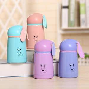 300ml Vacuum Bottle For Kids Rabbit Print Stainless Steel Thermal Cup Mugs With Ears