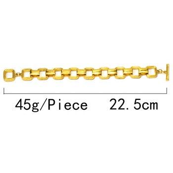 Statement Gold Metal Square Trend Bracelet 6
