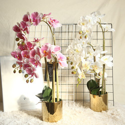 3D Butterfly Orchid Artificial Flowers Fake Moth Flor Orchid Flower for Home Wedding DIY Decoration