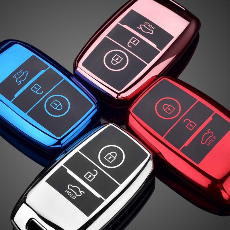 Цвет мягкий TPU чехол для автомобиля чехол, держатель для ключа для Kia Rio Rio5 Sportage R K3 KX3 K4 K5 Kia Ceed Sorento Cerato Оптима 2015 2016 2017 2018