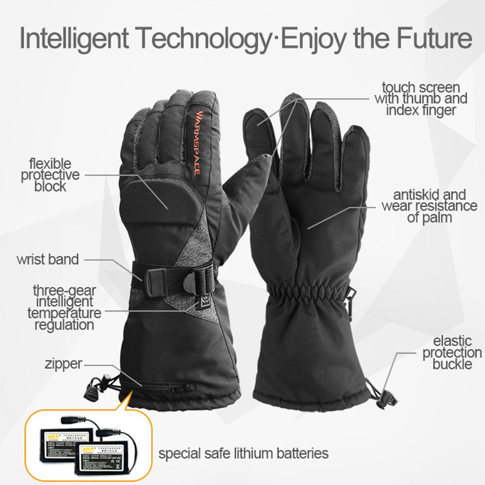 M/XL Motorcycle Heated Gloves 3.7V/3600mAh Lithium Battery Waterproof Warm Keeping Thermal Heat Gloves For Skiing Riding