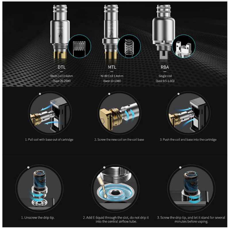 New Electronic Cigarette Replacement Coil Original Smoant Pasito Kit Mouth And DTL Mesh 0.6ohm MTL Ni-80 1.4ohm RBA Single Coil enlarge