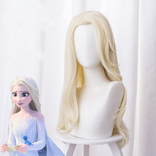 2020 NEW Moive Queen Elsa White Long Wig New Anna Elsa 2 Wig Princess Hair Bands Girls Party Fancy Accessories Princess Braid(China)