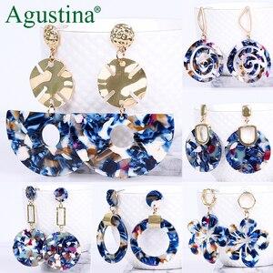 Agustina Acrylic earrings fashion jewelry blue earrings women drop earrings geometry long earring bohemian earings luxury boho