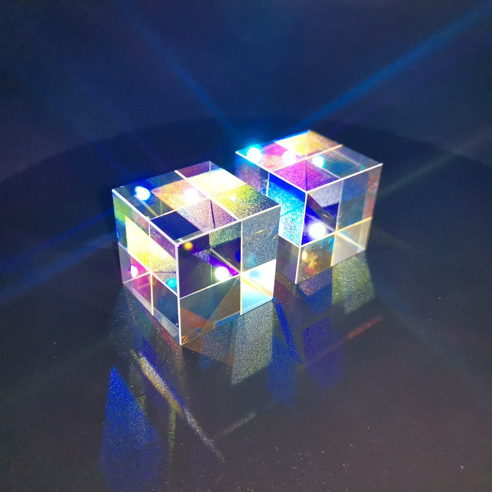 Christmas Creative Gifts Light Cube Prism Color Six-sided Rainbow Photo Photography