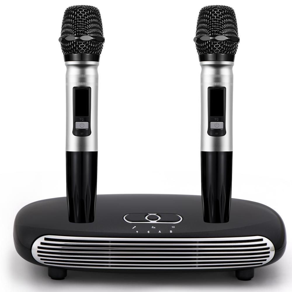 JEDX K8 Wireless Mini Family Home Karaoke Echo System Singing Machine Box Karaoke Players USB Audio For Android TV Box PC Phones