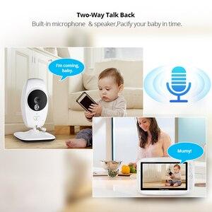 Image 4 - كاميرا FUERS 7 بوصة 720P عالية الدقة لاسلكية لمراقبة الأطفال والرؤية الليلية شاشة تهويدة لاسلكية مزدوجة شاشة LCD مراقبة مربية