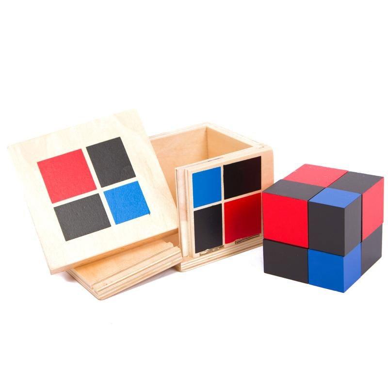 Купить с кэшбэком Montessori Wooden Toys Binomial Cube Montessori Math Materials Preschool Educational Learning Toys For Children MG1464H