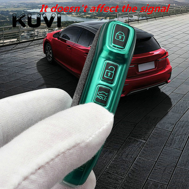 Etui clés à distance en cuir pour voiture protection coque Fob pour KIA Sportage R Stinger GT Sorento Cerato Forte Ceed CD accessoires