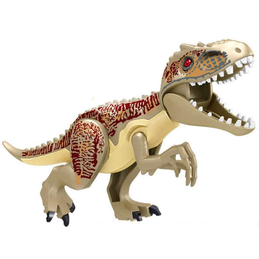 Jurassic Worldeds Film Dinosaur Tyrannosaurus Block Figures Kid's Puzzle Assemble Legoinglys Early Learning Building Toys