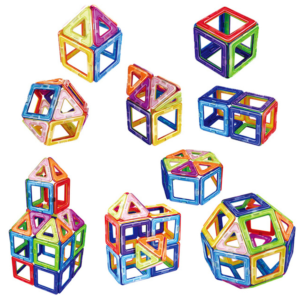 50pcs Big Magnetic Constructor Triangle Square Bricks Magnetic Building Blocks Designer Set Magnet Toys For Children Gift 4