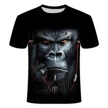 Summer new men's t shirt orangutan/monkey printed 3d fun