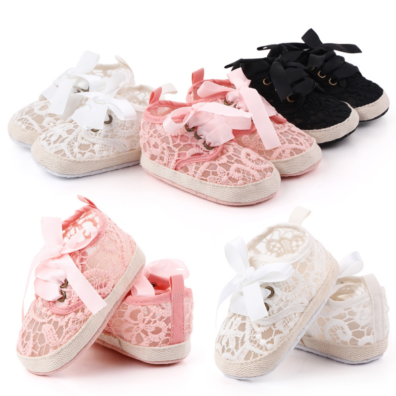 Baby Shoes Classic Sports Sneakers Newborn Baby Boys Girls First Walkers Shoes Soft Sole Anti-slip Floral Baby Shoes