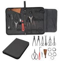 15pcs Bonsai Tool Set Carbon Steel Extensive Cutter Scissors Kit With Nylon Case Garden Pruning Tools Mayitr