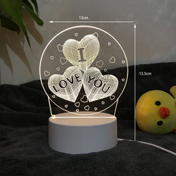Luces de noche 3D lámpara LED creativa novedad ilusión lámpara de noche ilusión lámpara de mesa para luz decorativa de hogar